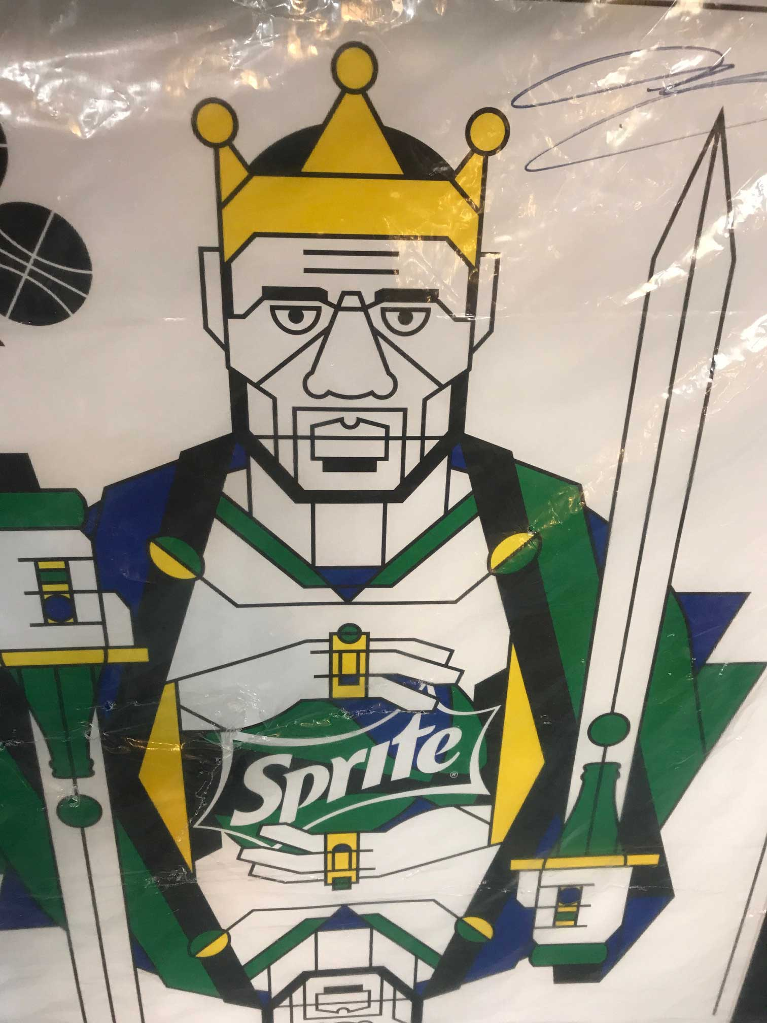 38850451993 LeBron James Sprite Poster Signed   Authenticated - Uncle Ben s Pawn ...